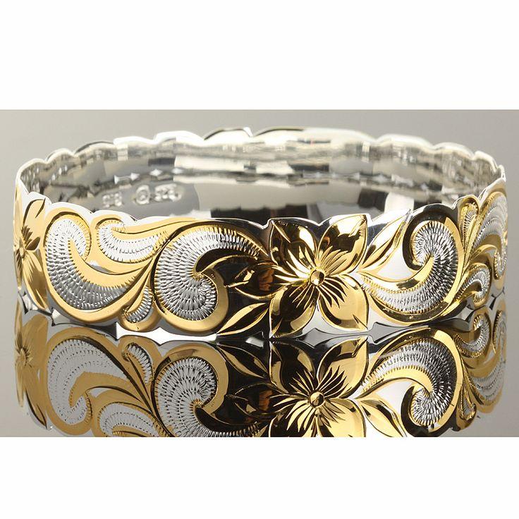 Hawaiian+Bangles | ... Hawaiian Jewelry - Hawaiian Heirloom Bangles - Band Bangles - *18mm