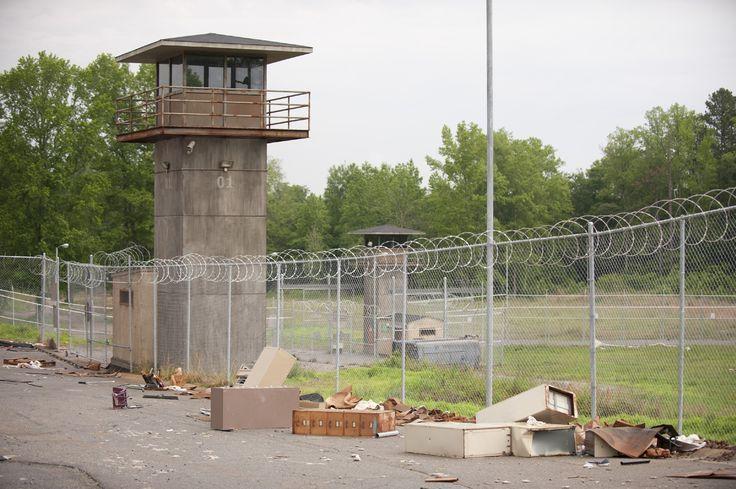 Image result for prison guard tower walking dead