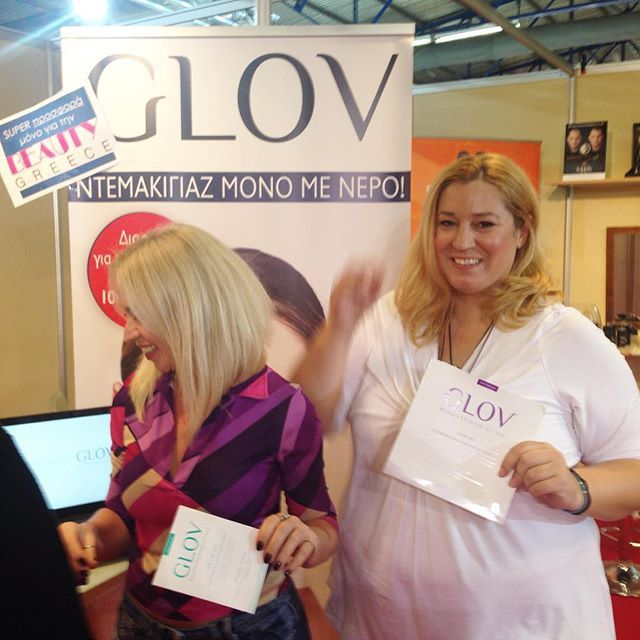 Happy to visit today @glov_gr the #magic #glov at #beautygreece #exhibition with my beloved @thekmprojects!😍 — Vicky's Style