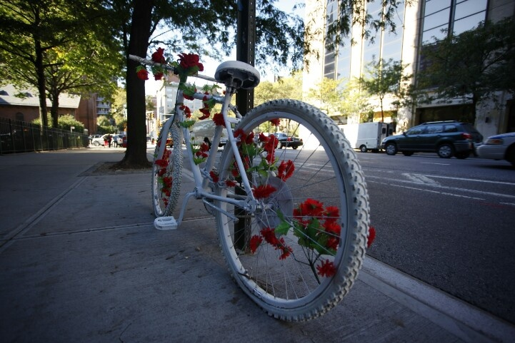 NYC memorial to a slain cyclist