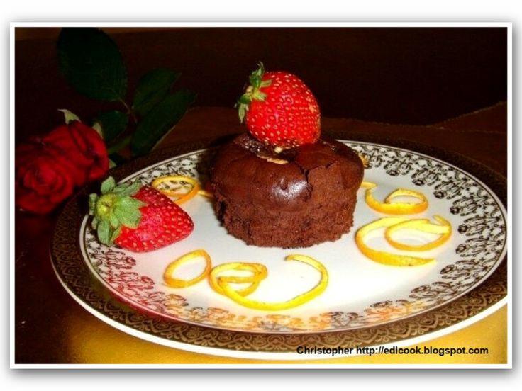 Fondant au chocolat  (fondą o szokola) - medium