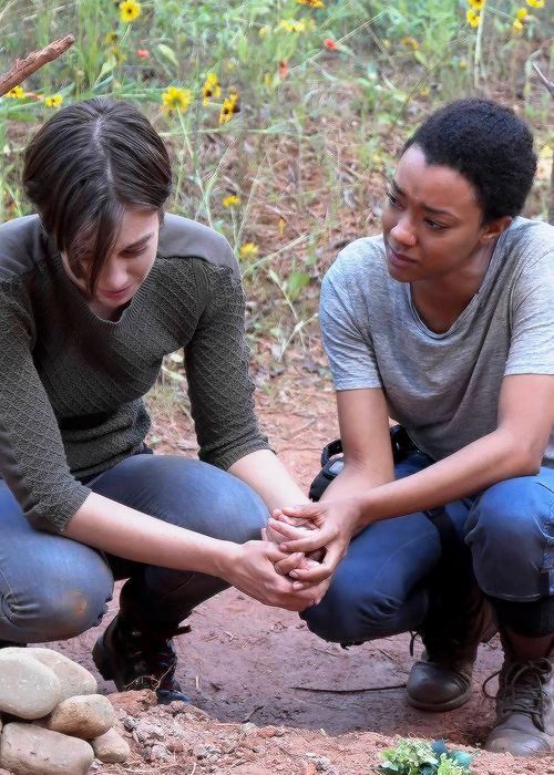 """ Maggie and Sasha in The Walking Dead Season 7 Episode 5 