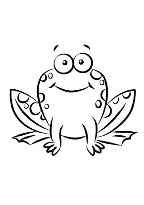 Simple Frog Printable Coloring Pages
