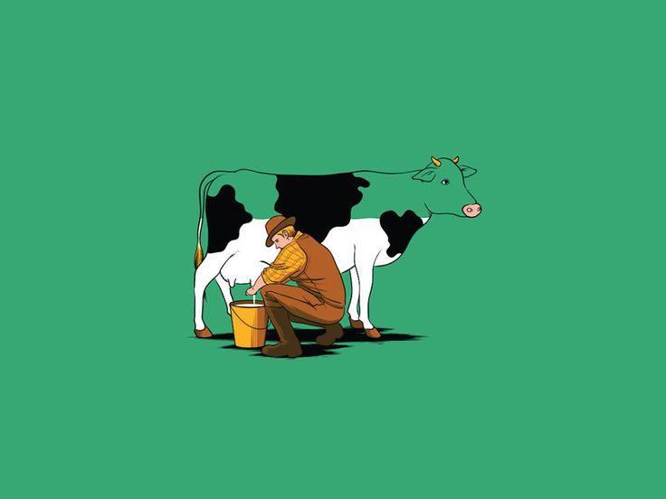 Pipa Păcii: Ilustratii simpatice cu multe iluzii optice realizate de Chow Hon Lam #cool #illustrations #humor