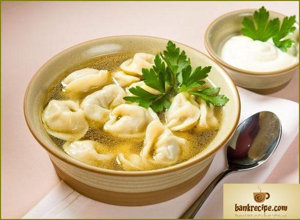 Hjemmelavet dumplings på russisk