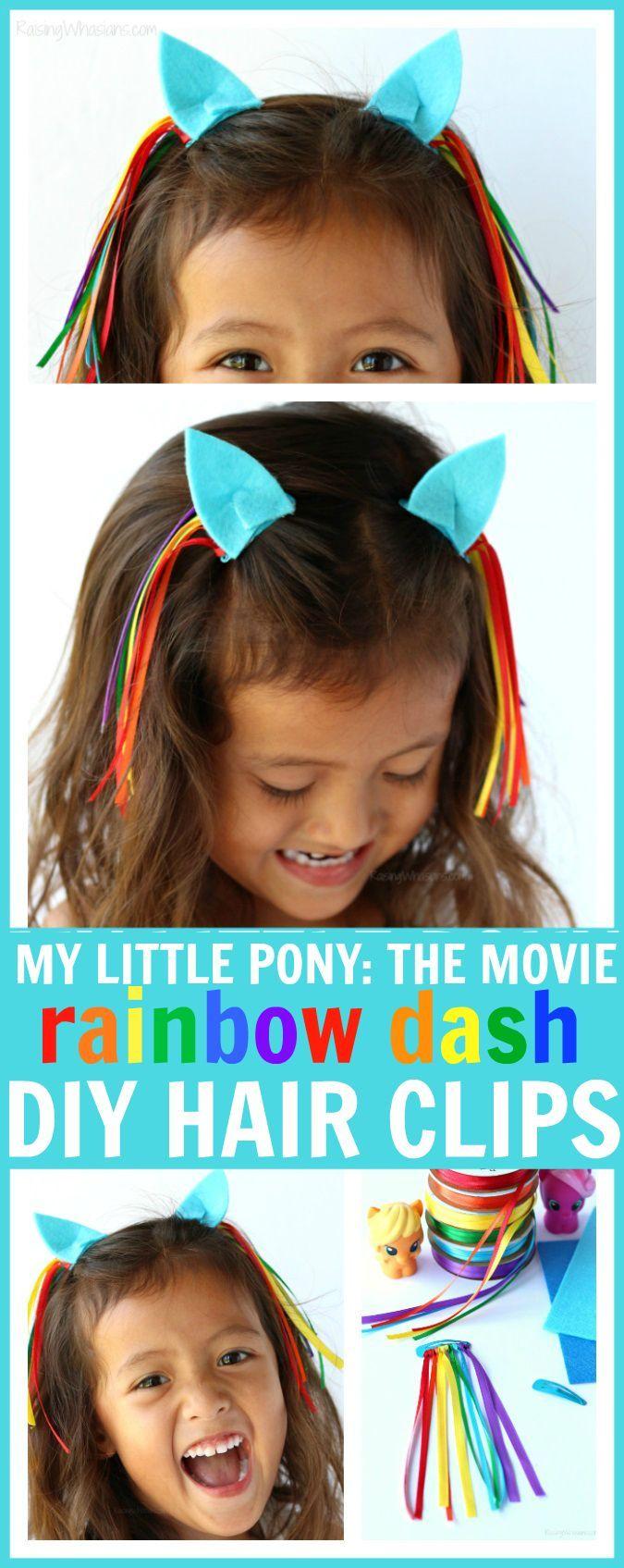 DIY My Little Pony Hair Clips to Celebrate My Little Pony: The Movie - Raising Whasians via @raisingwhasians