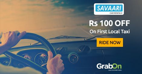 Book A Taxi - Get Your #Savaari NOW. Flat Rs 100 Off On Local Taxi Booking. http://www.grabon.in/savaari-coupons/ #SaveOnGrabOn