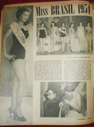 A MISS BRASIL MARTHA ROCHA -- No Rio de Janeiro, os concursos de Miss Brasil, a partir de 1954, despertavam comoção nacional e o desempenho da representante brasileira no Miss Universo tinha ares de final de Copa do Mundo.
