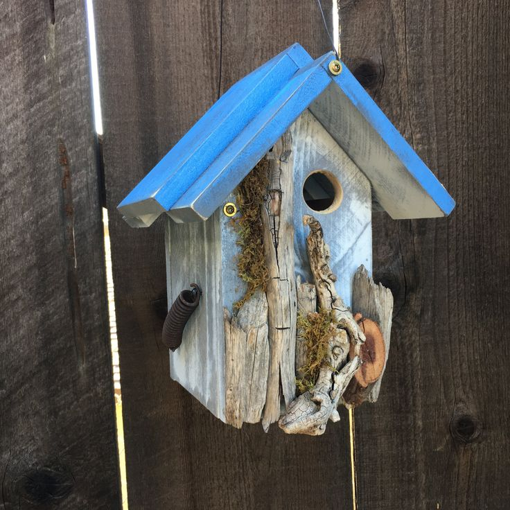 Unique Wooden Bird Houses: 451 Best Handmade Birdhouses And Feeders Images On