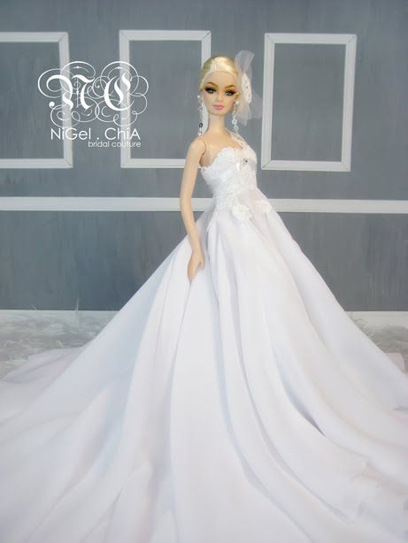 Barbie Couture Clothing | Barbie Romance Bridal Couture 2010 for Fashion Doll Quaterly Magazine