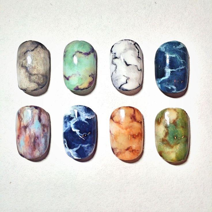 Eichi Matsunaga: marble nails