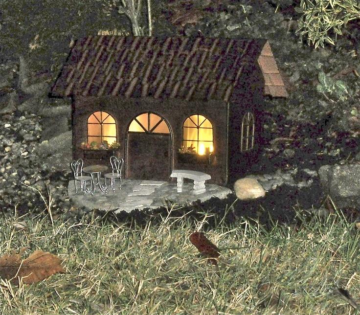 Cute House With Solar Light. Miniature GardensFairy ...