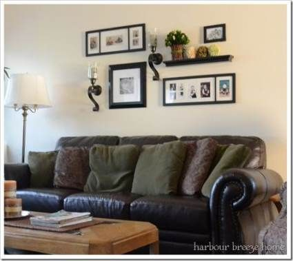 37 trendy wall collage above couch