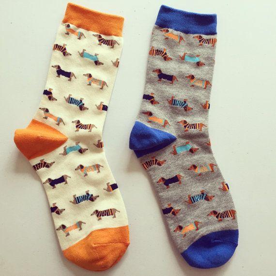Dachshund Sausage Dog Print Socks Animal Print by kindersticker