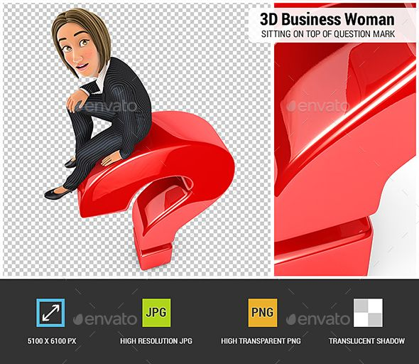 3d Business Woman Sitting On Top Of Question Mark In 2021 Business Women This Or That Questions Question Mark