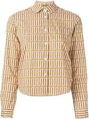 Peter Jensen lipstick print shirt - Shop for women's Shirt - YELLOW