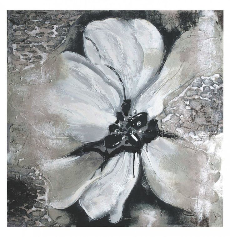 Charcoal bloom canvas