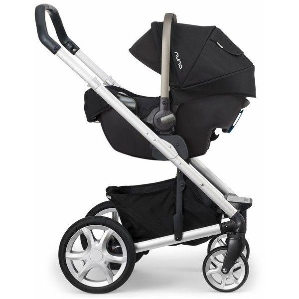 Nuna Mixx Stroller-Mykonos Nuna Pipa Car Seat-Night liked on Polyvore featuring baby