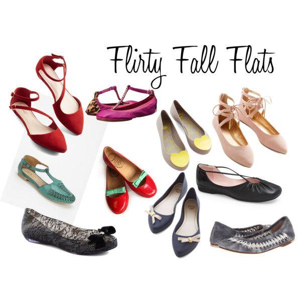 """""""Flirty Fall Flats"""" by rajeanblomquist on Polyvore: Flirti Fall, Fall Flats"""