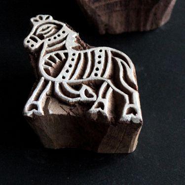 Tampon encreur indien pour tissu