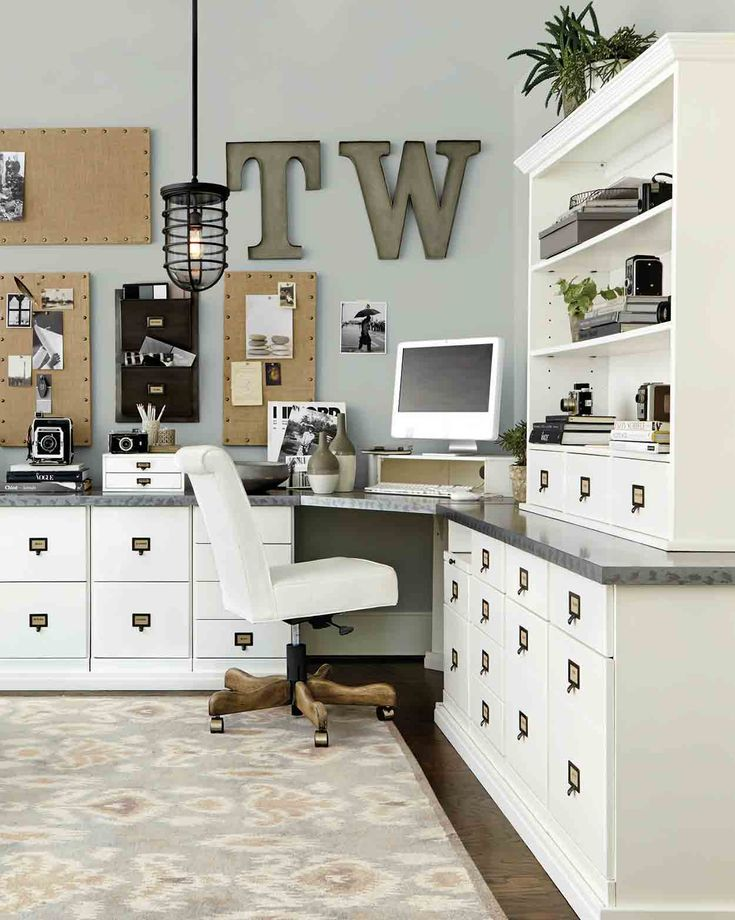 Our Original Home Office Collection turns an empty office space into a super functional work area.