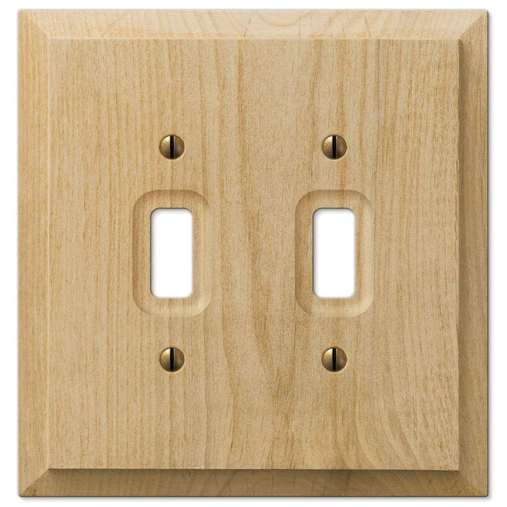 Hampton Bay Wood 3 Toggle Wall Plate Un Finished Wood 180ttthb At The Home Depot Mobile Plates On Wall Alder Wood Wood Cover
