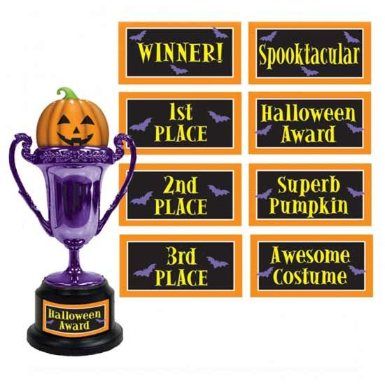Halloween Trophy - Multi Label Sold Single Size: 6 Inch (15cm) Material: Plastic Great Value For Money.