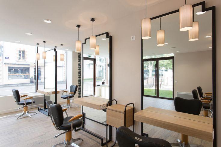 1000 id es sur le th me salons de coiffure sur pinterest for Interieur salon de coiffure