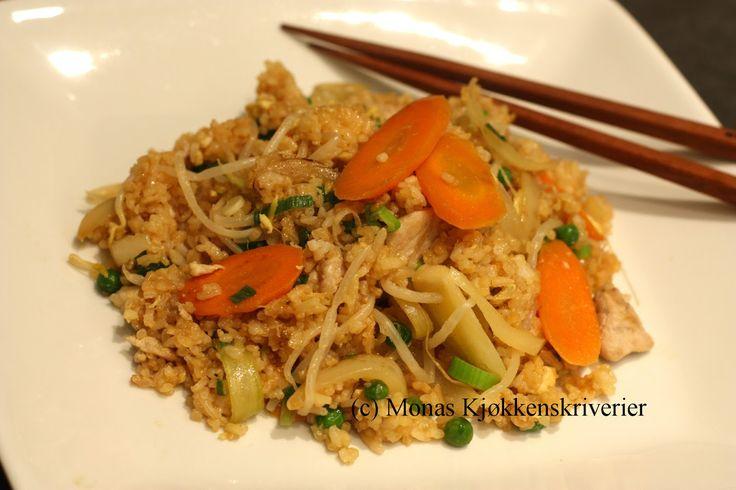 Neste gang du koker ris til middag, kan du lage dobbel mengde, og lage deilig stekt ris en dag eller to senere. Det er jo så godt! Og...