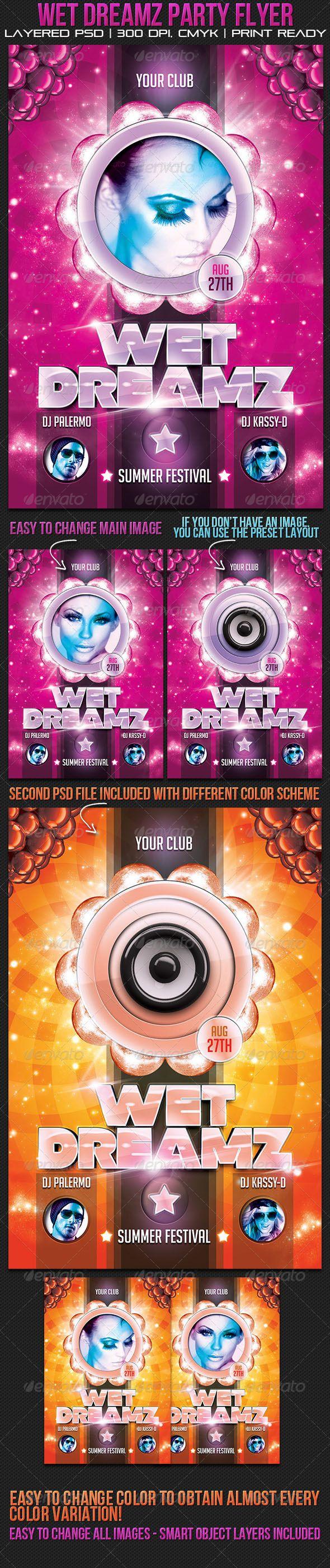 Wet Dreamz Party Flyer - GraphicRiver Item for Sale