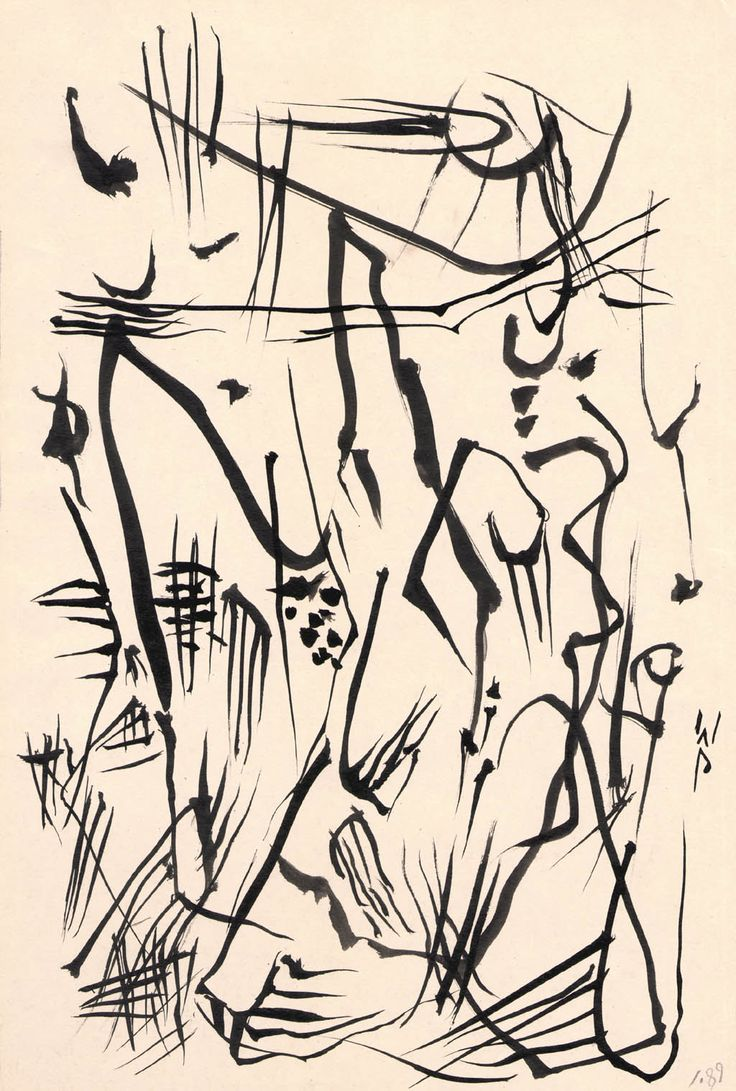 Wolfgang Paalen   (1907-1959)  Untitled (Automatic Drawing) ink on paper, circa 1950