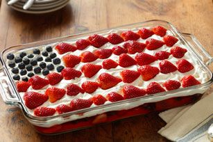 #Patriotic #MemorialDay #4thOfJuly ♥ Flag Cake Recipe For Celebrating Life's Special Moments.