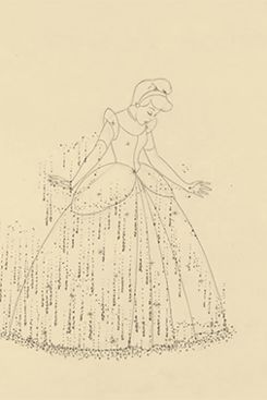 Assepoester in haar jurk