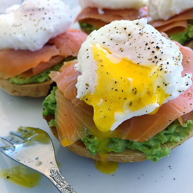 "California-Style Avocado and Salmon Lox ""Eggs Benedict"""