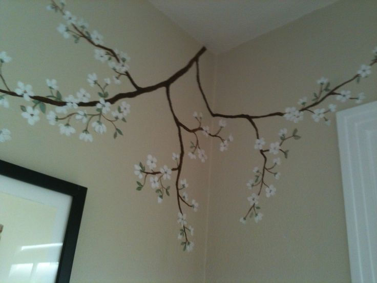 Cherry Blossom Branches Mural For A Girls Room   Murals Available As  Stickers On Stick And Part 90
