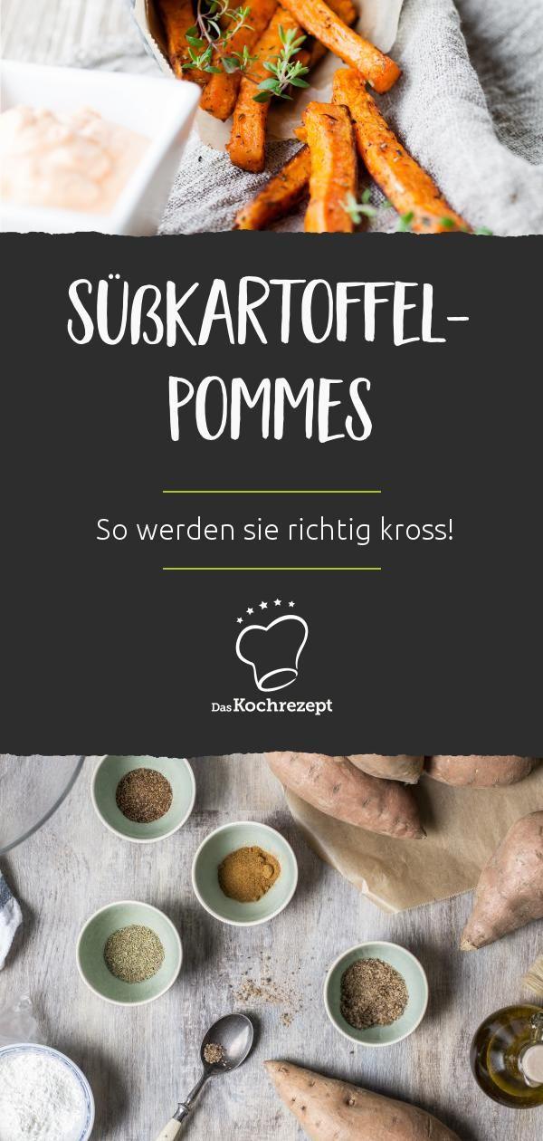 Knusprige Süßkartoffel Pommes Aus Dem Ofen So In 2018 Kochen
