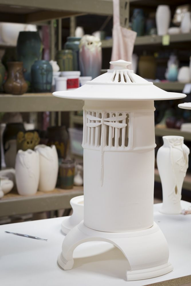 A New Ephraim Pottery Lantern In Bisque Ware At The Studio