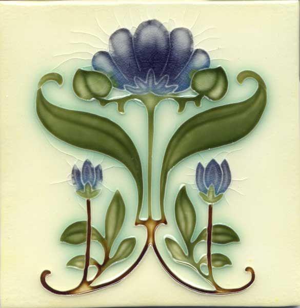 Porteous Art Nouveau Tile, c. 1900                                                                                                                                                      More