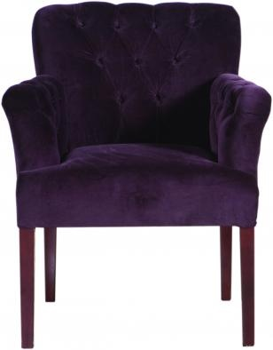 Flamant Chair Fenice Purple Velvet USA Copper Strawberry