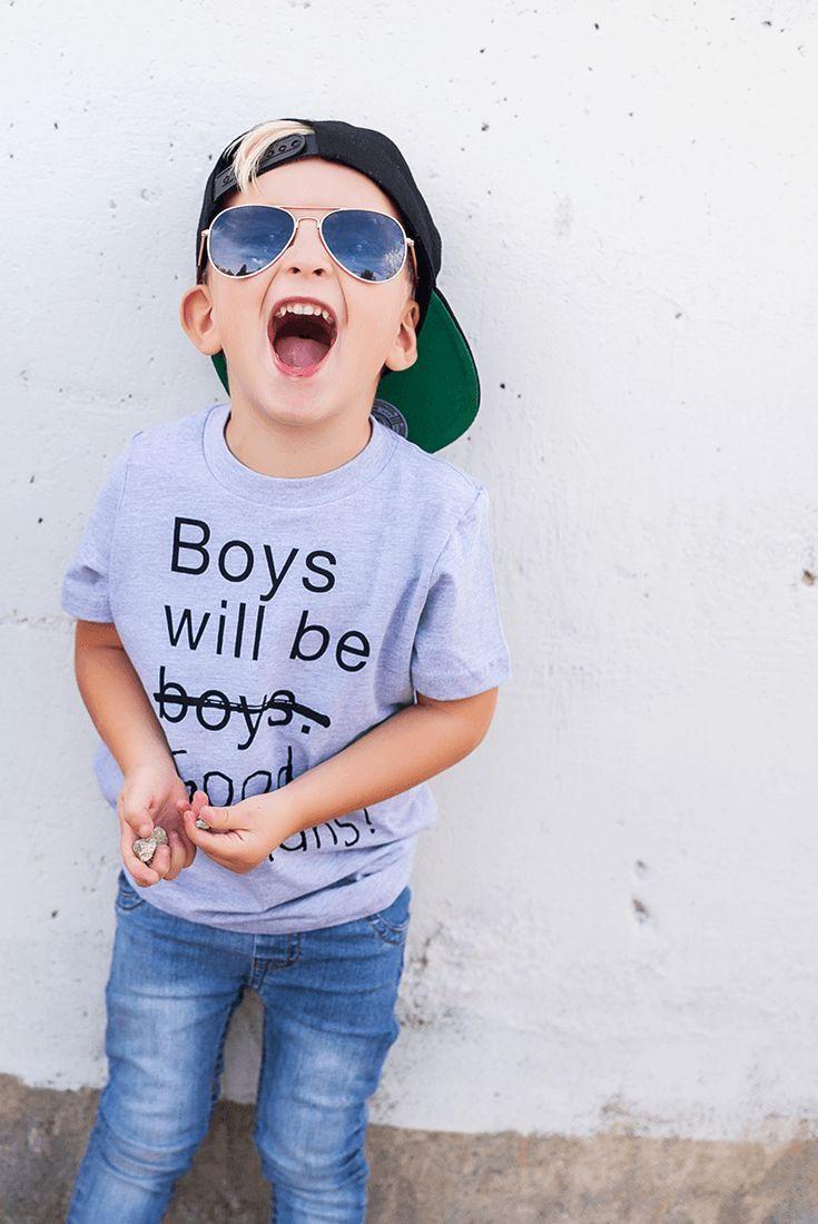 f5491389 Boys Will Be Good Humans (TM) Baby / Kids T-Shirt - Free to Be Kids: Ah,
