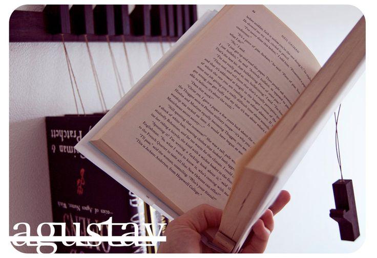 Custom made wooden book rack / bookshelf in Walnut. by OldAndCold, $210.00