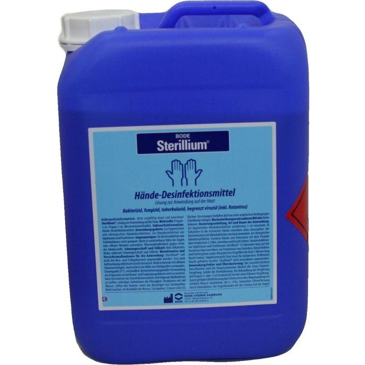 STERILLIUM Lösung Händedesinfektionsmittel:   Packungsinhalt: 5 l Lösung PZN: 02465200 Hersteller: PAUL HARTMANN AG Preis: 55,68 EUR…