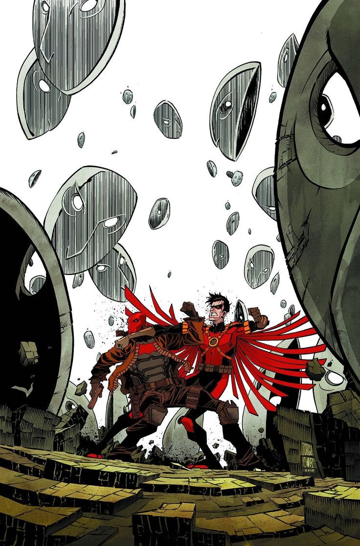 """RED ROBIN VS. RED HOOD-TO THE DEATH! """"Robin War"""" part 4 pits Tim Drake against Jason Todd in a steel-cage match-and only the Court of Owls can say who will escape the cage with his life!"""
