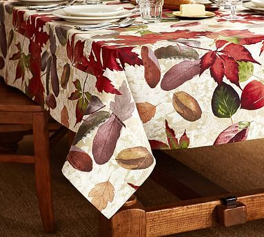 Windswept Leaves Tablecloth