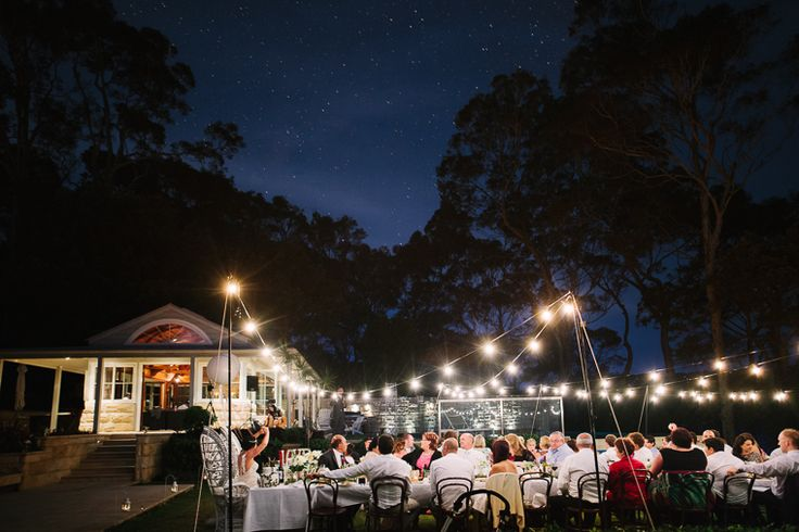 Super Cool Outdoor Wedding Theme With String Lights At Bangalla Scotland Island Sydneys North Shore Pittwater