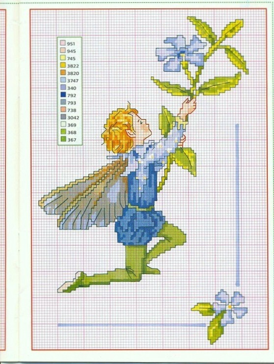 periwinkle fairie, magazine version , no background just part from original