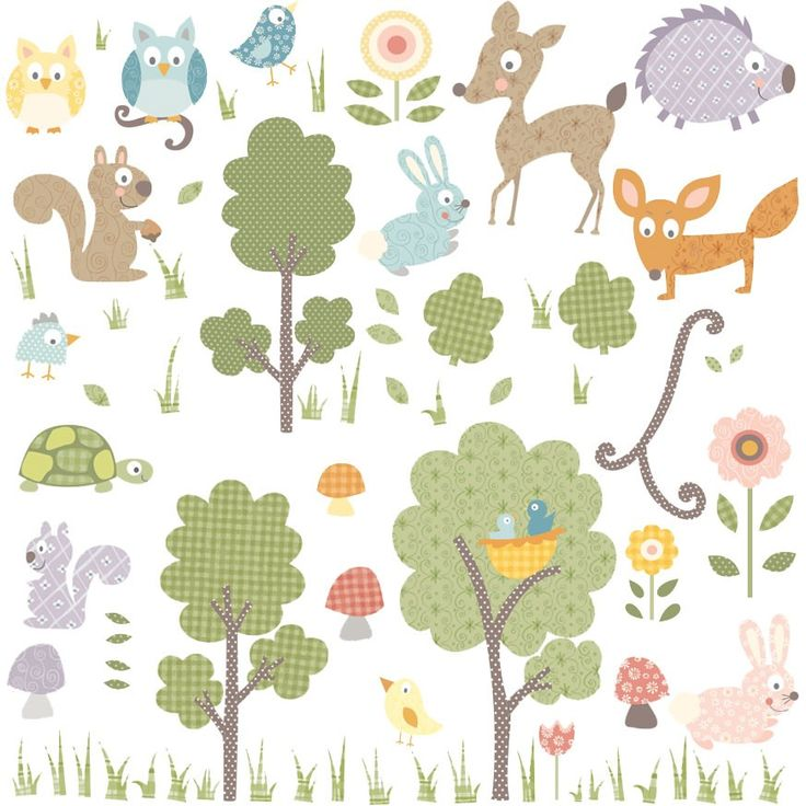 Childrens Wall Stickers - Forest Animals, Girls Wall Stickers, RoomMates Wall Stickers | Becky & Lolo