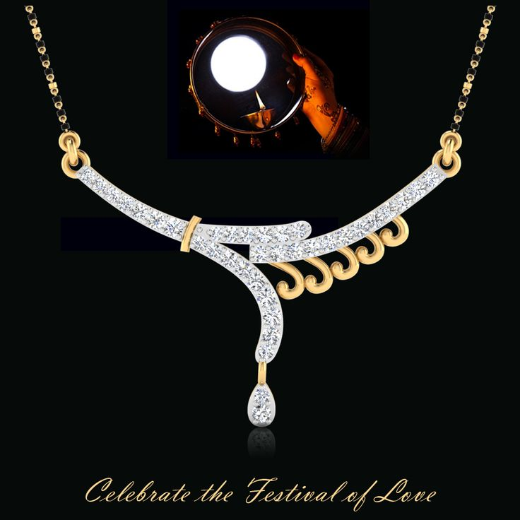 Karwa Chauth Special Discount Offer, Buy our Aminisha Diamond Mangalsutra    #KarwaChauth #mangalsutras #goldmangalsutra #diamondmangalsutra #IskiUski