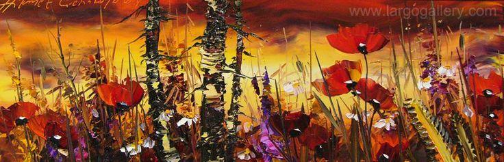 "http://www.largogallery.com/ Hikmet Cetinkaya,  ""Poppies"", oil, canvas, 20/60"