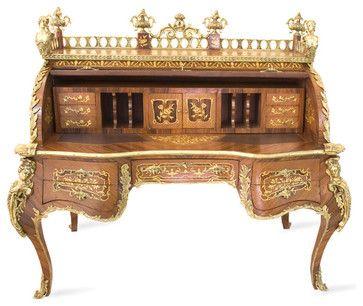 Elegant Roll Top Desk craftsman-bar-tables